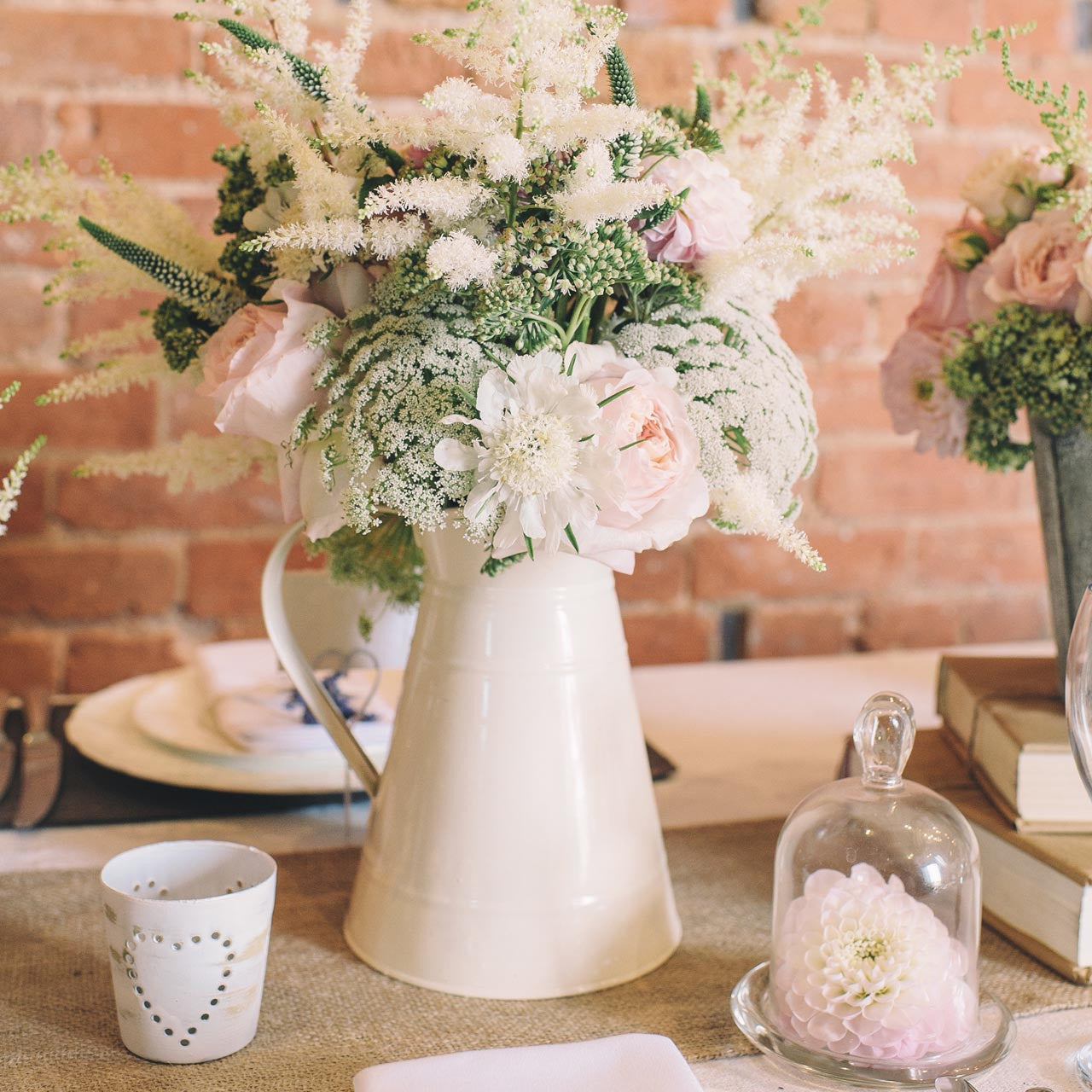 Country Wedding Centerpieces Ideas: Vintage Country Heart Tea Light Holder