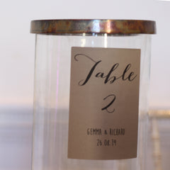 Personalised Wine Bottle Table Numbers Calligraphy from The Wedding of my Dreams