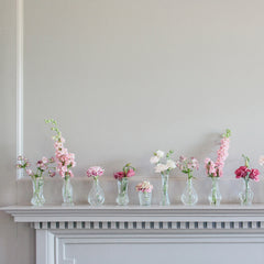 Wedding Bud Vases - Clear Glass with gold rim available from The Wedding of my Dreams