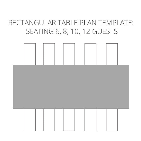 Wedding Seating Plan Template To Help Visualise Your Table Plan   Rectangular  Tables   By @