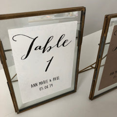 Personalised Table Number Stickers, Calligraphy (For Wine Bottles/Vases/Frames)
