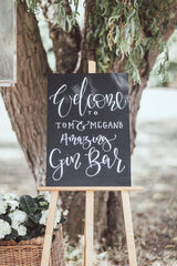 Bespoke Hand Painted Blackboard Wedding Sign