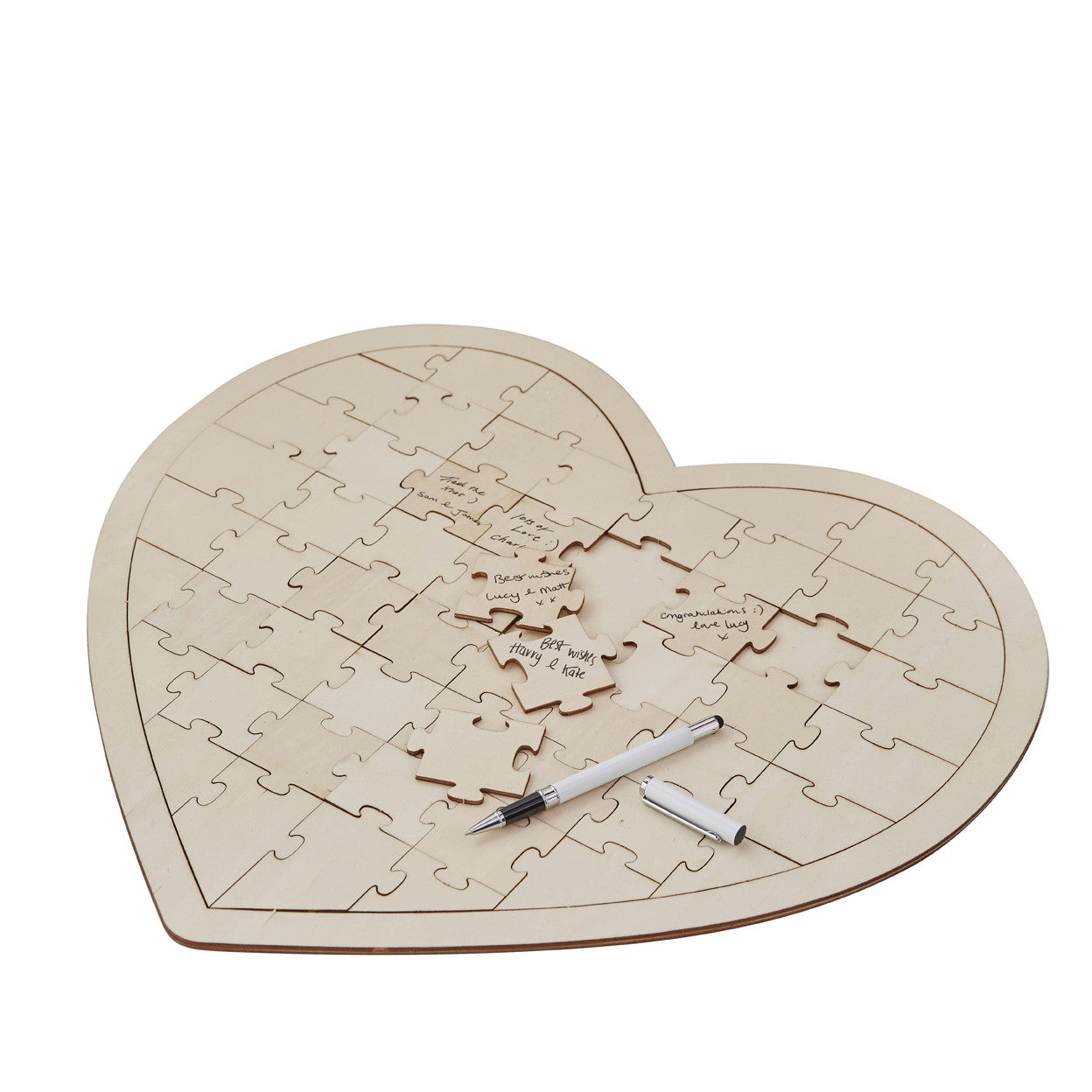 Silver Cake Decoration Crossword Clue : Wooden Heart Jigsaw Puzzle Wedding Guest Book   The ...
