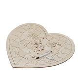 Wooden Heart Jigsaw Puzzle Wedding Guest Book - available from @theweddingomd
