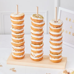 Wooden Donut Stacker For Dessert Tables - The Wedding of my Dreams
