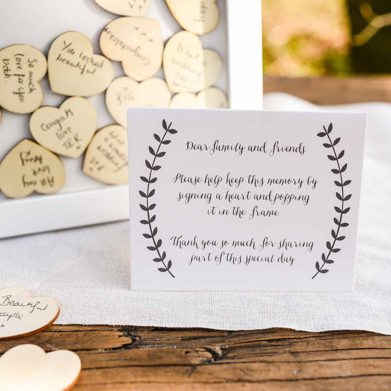 Wooden Heart Drop Top Wedding Guest Book The Wedding Of My Dreams