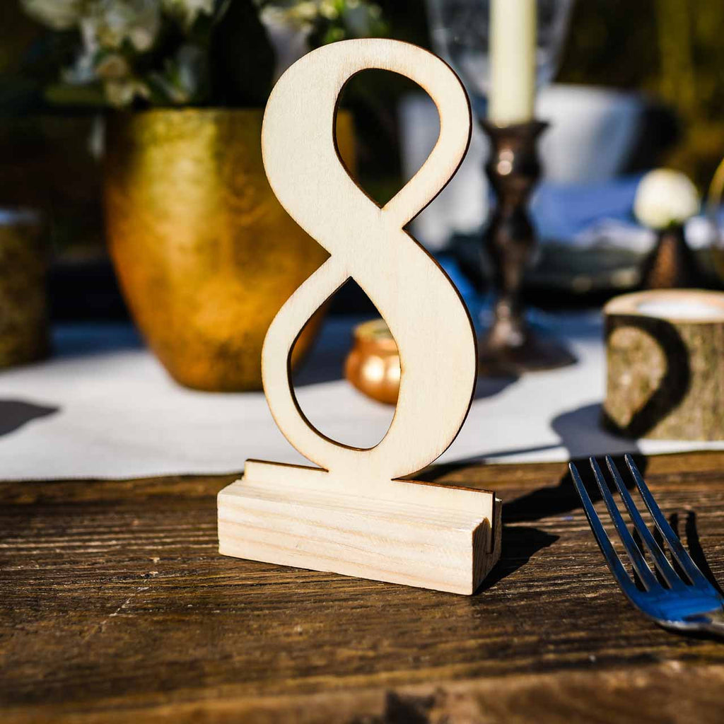 Wooden Table Numbers 1 12 Free Standing Modern