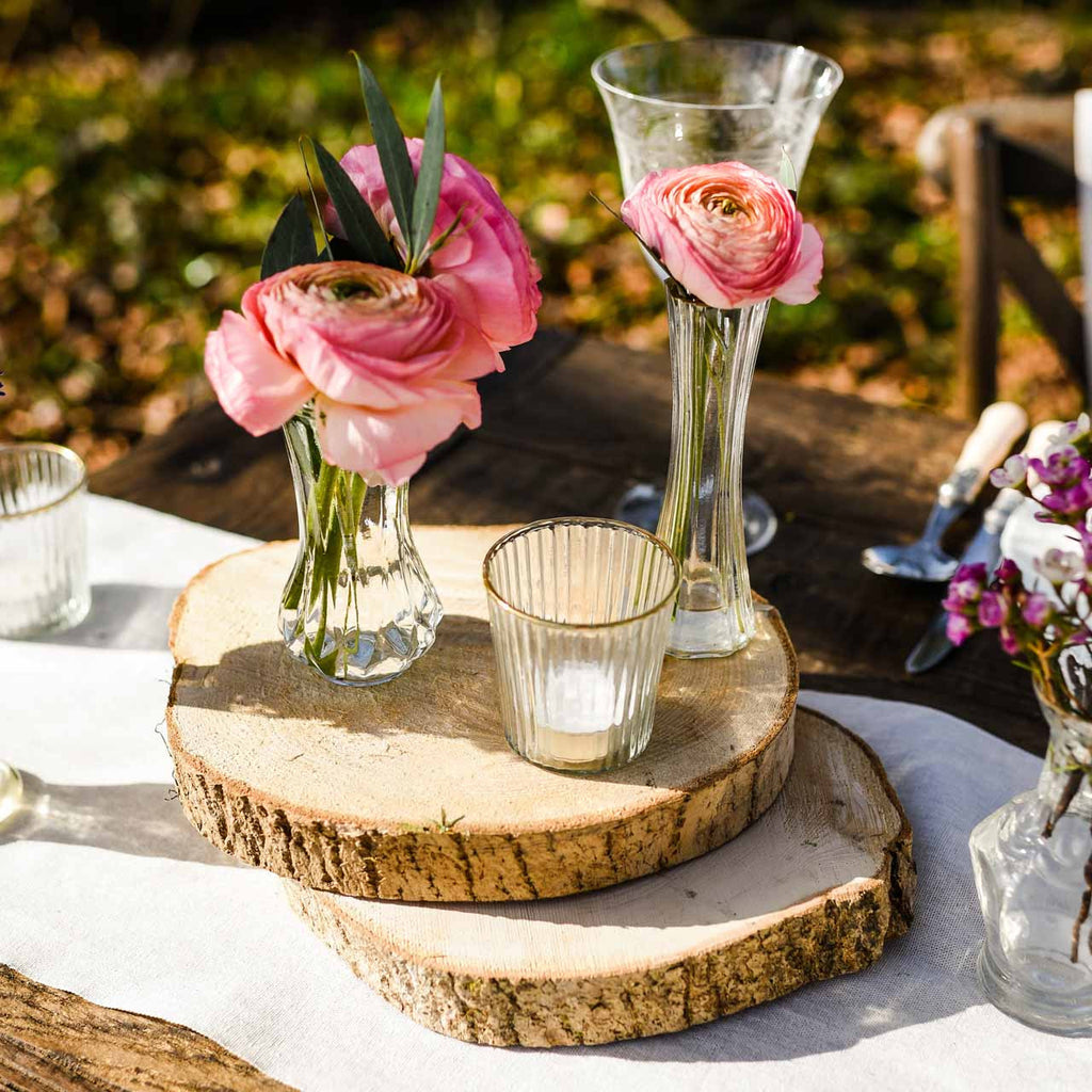 Tree Slice Rustic Wedding Centrepiece - available from The Wedding of my Dreams