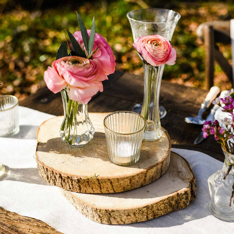 Wooden Tree Slice Rustic Wedding Centrepiece