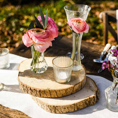 Tree Slice Rustic Wedding Centrepieces - available from The Wedding of my Dreams