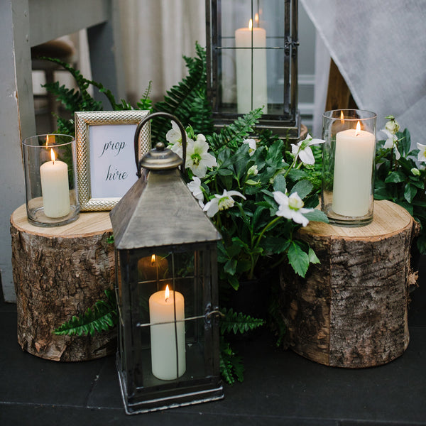 Woodland wedding tree stumps
