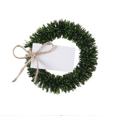 Green Wreath Place Cards Set Of Four