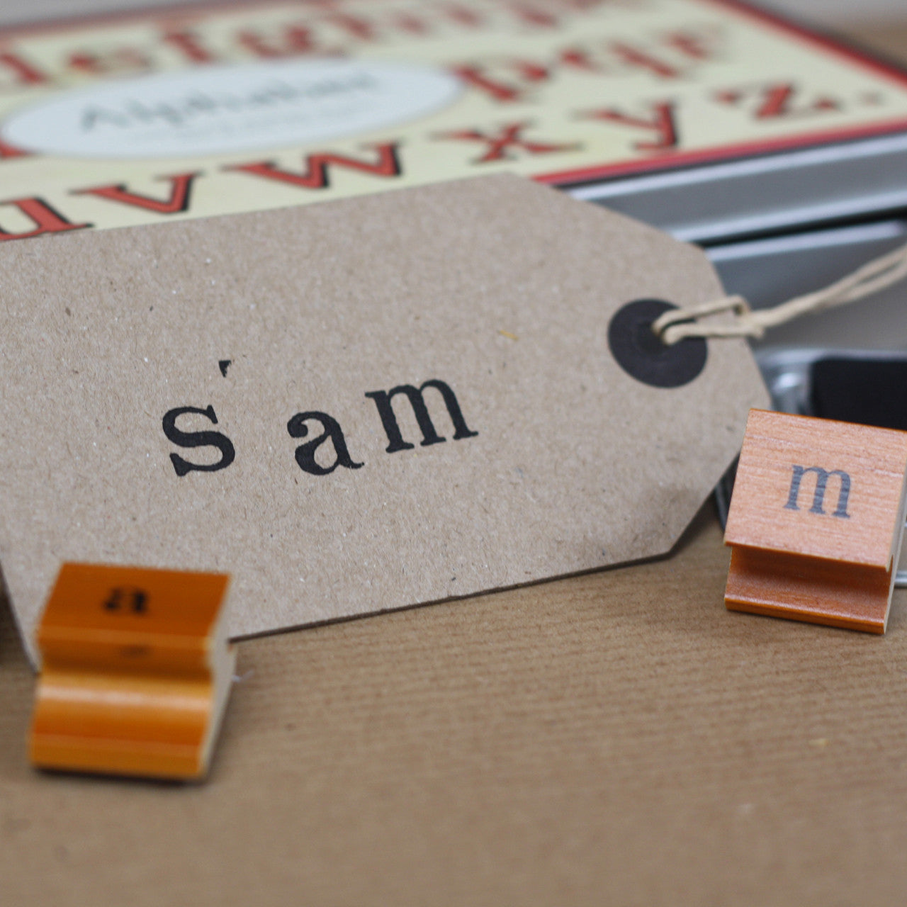 Alphabet Stamps And Ink Pad Lower Case The Wedding Of My