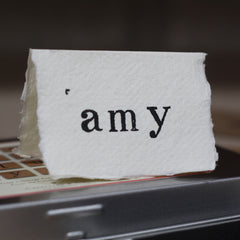 letter stamps for wedding place cards