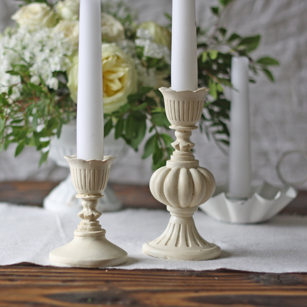Antique Cream Candlesticks for weddings The Wedding of my Dreams