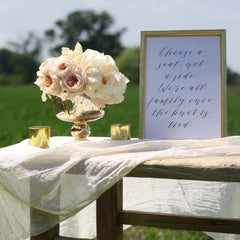 Antique gold footed bowl wedding centrepieces available from theweddingofmydreams.co.uk