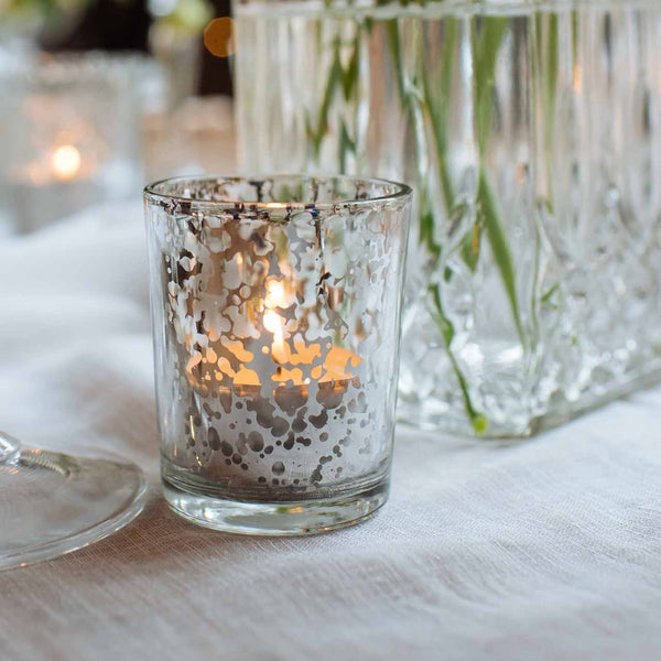 Wedding table decorations centrepieces vases candle holders antique silver tea light holders wedding decorations junglespirit Choice Image