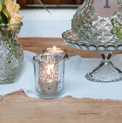 Antique Silver Tea Light Holders Wedding Decorations