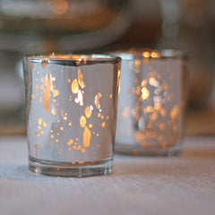 Antique Silver Tea Light Holders