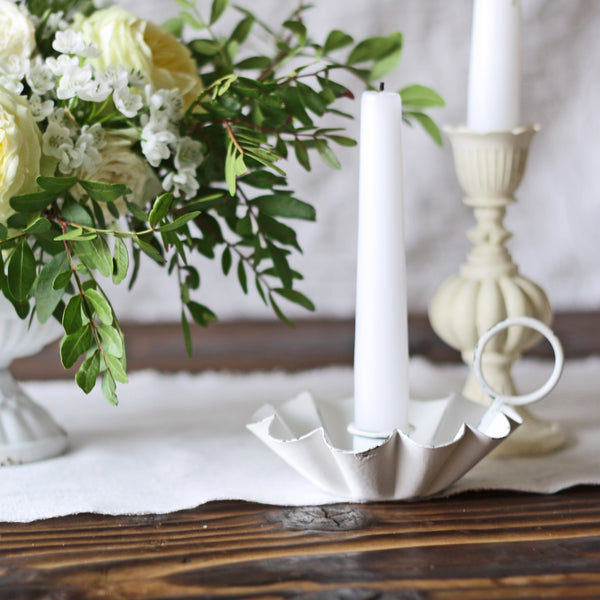 Antique White  Candlestick Holder for wedding table styling - The Wedding of my Dreams