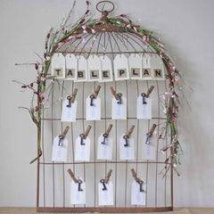 vintage birdcage wedding table plan