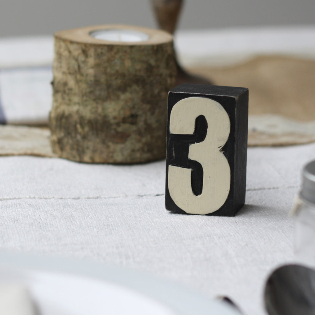 black and white wooden table numbers from The Wedding of my Dreams