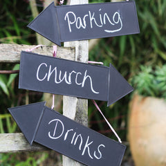 blackboard arrow signs directional signs for weddings available from @theweddingomd