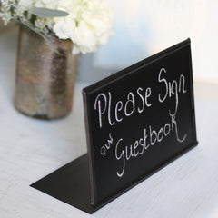 Blackboard wedding Sign Free Standing sign our guestbook