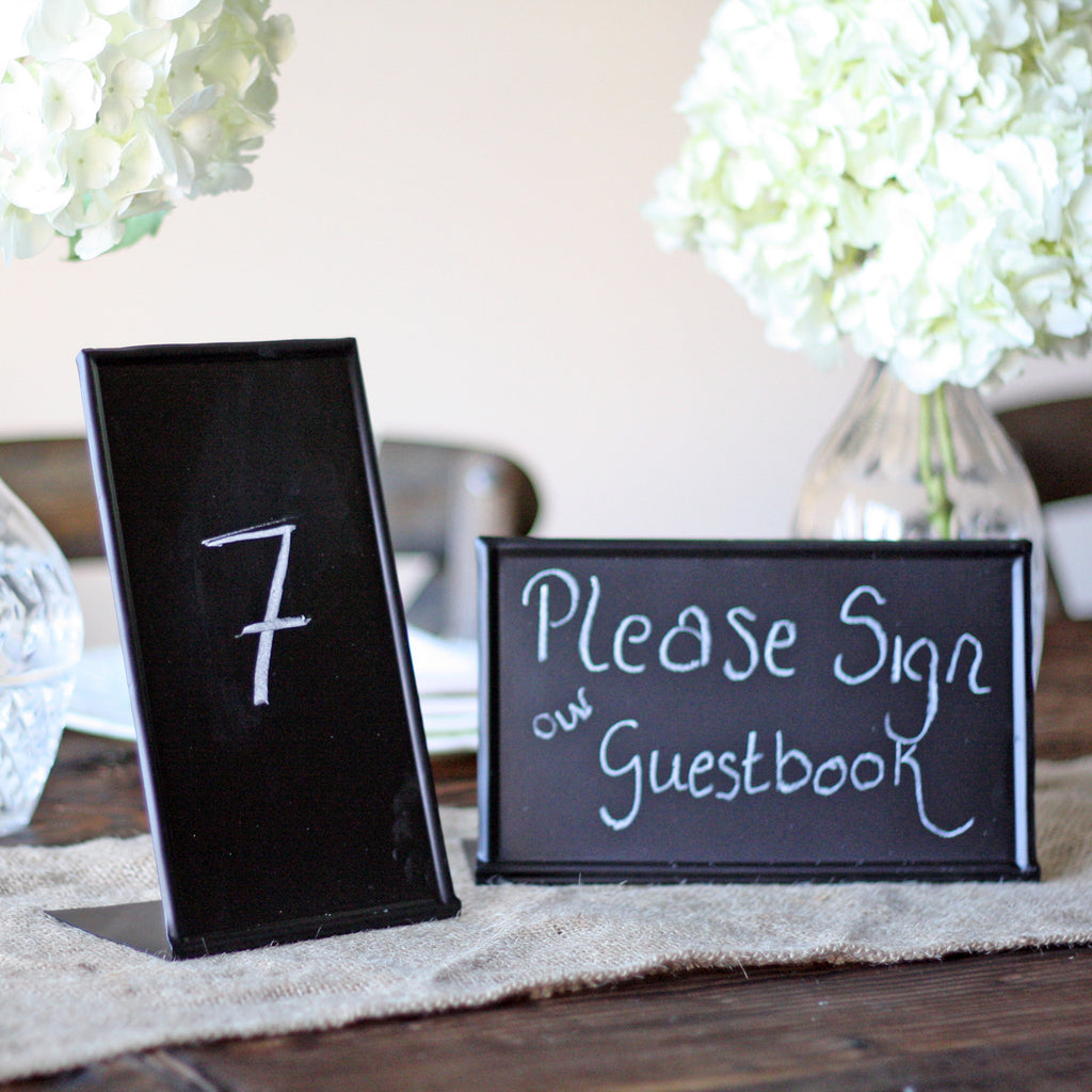 Blackboard Sign Free Standing table numbers