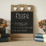 blackboard wedding sign photo booth
