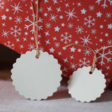 Cream Blank Gift Tags With Scalloped Edges – Pack Of 12