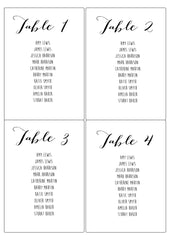 Personalised Table Plan Stickers (Brown) - Set Of 4 per A4 Page