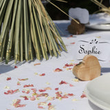 blush pink confetti petals  biodegradable