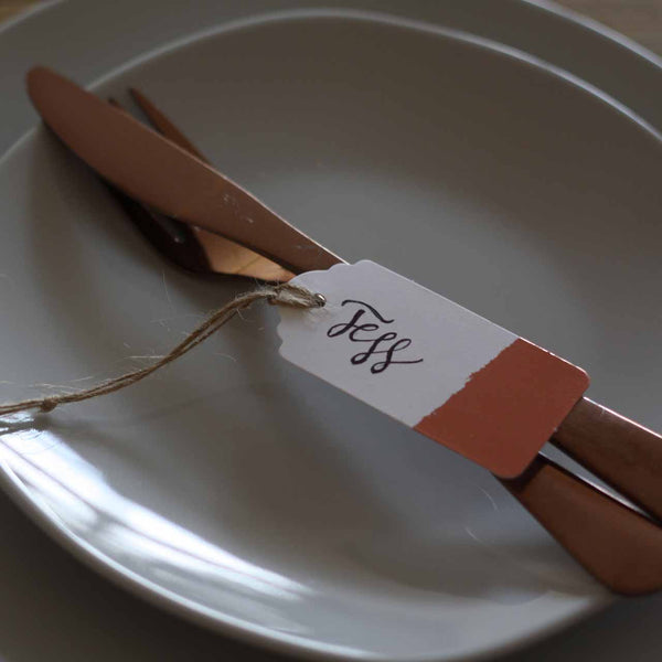 Bronze and White Luggage Tags - available from The Wedding of my Dreams