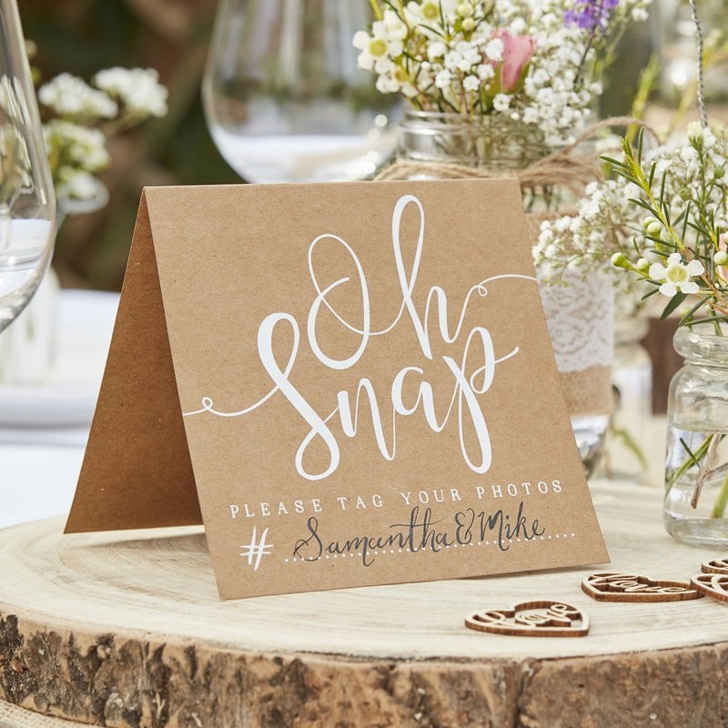 Rustic Chic Oh Snap Instagram Signs (5 Pack)