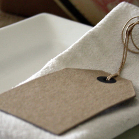 Brown Luggage Tags Vintage Place Cards - Pack Of 6