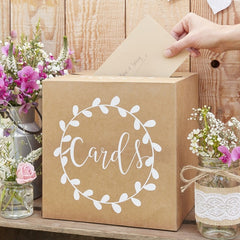 Rustic Chic Wedding Cards Box
