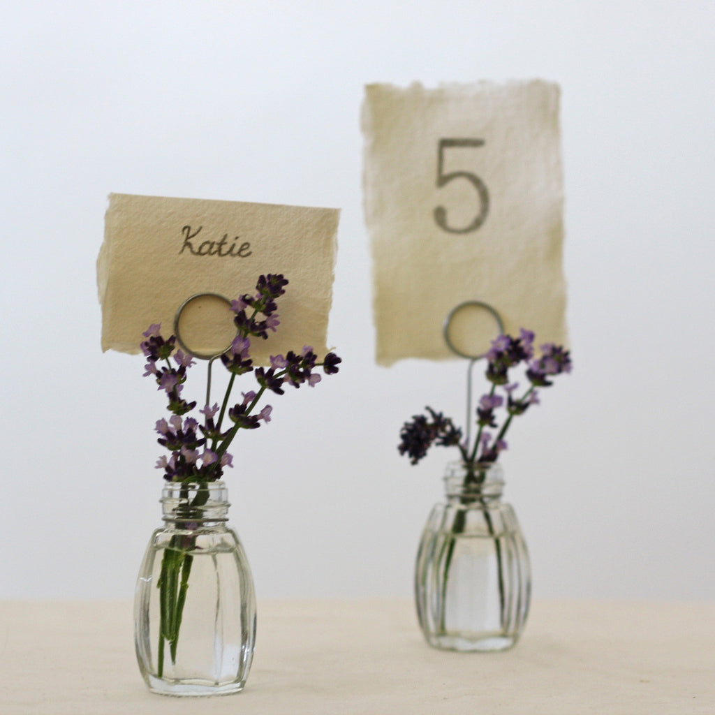 Glass Bud Vase Name Card Holders Set Of 4 The Wedding