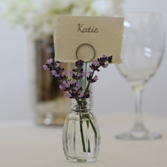 glass bud vase place card holders