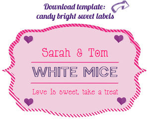 Wedding Candy Buffet Labels (Personalised) - Free ...
