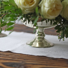 Elegant Footed Bowl with Leaf Design - Champagne Colour available from www.theweddingofmydreams.co.uk