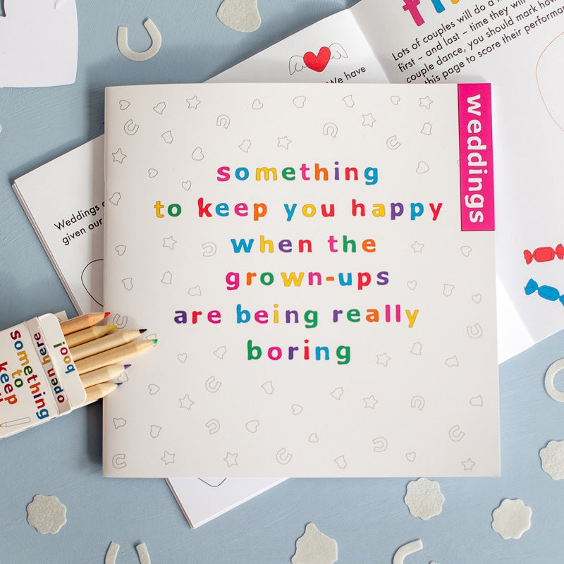 Children's Wedding Activity Book - Something To Keep You Happy at the table