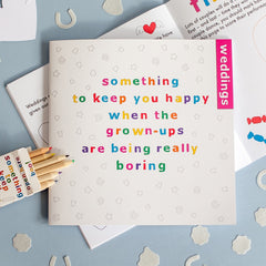 Children's Wedding Activity Book - Something To Keep You Happy (Square design)