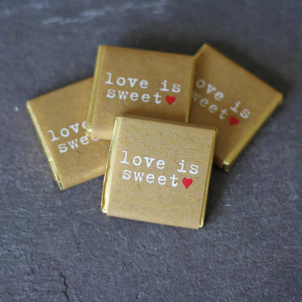 Chocolate Wedding Favours Love Is Sweet