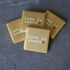 Chocolate Wedding Favours Love Is Sweet - Pack Of 20