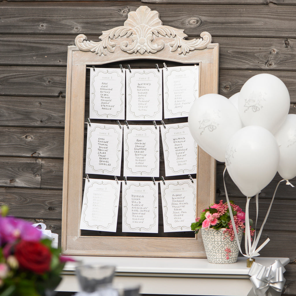 Classic Silver Table Plan Cards (1 - 10) www.theweddingofmydreams.co.uk