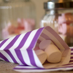 purple paper candy bags for wedding candy buffets