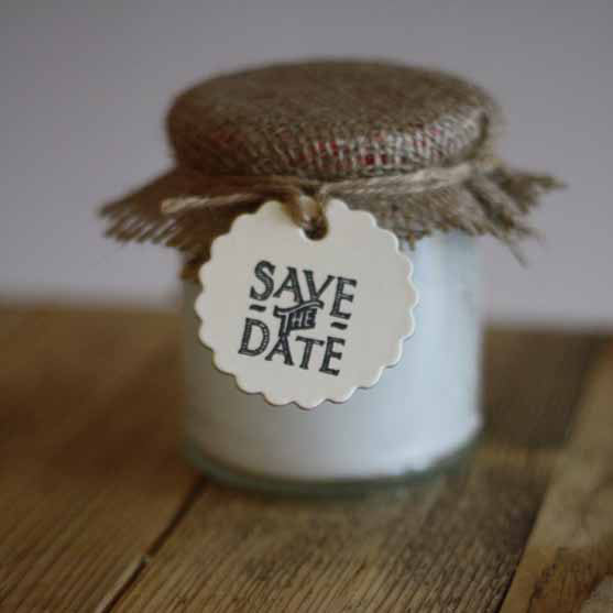 cream card gift tags with scalloped edges perfect for stamping onto for your save the date tags