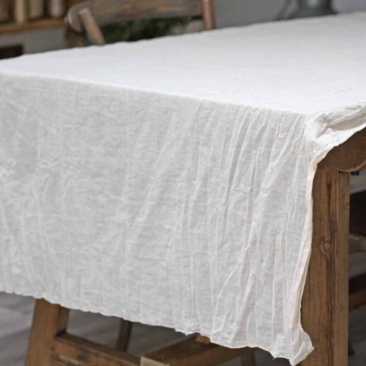 7678f29282 Cream crumpled wedding table cloth available from The Wedding of my Dreams