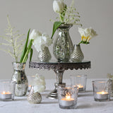 mercury silver glass vases